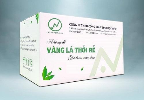 bộ sản phẩm wao boom đặc trị vàng lá thối rễ