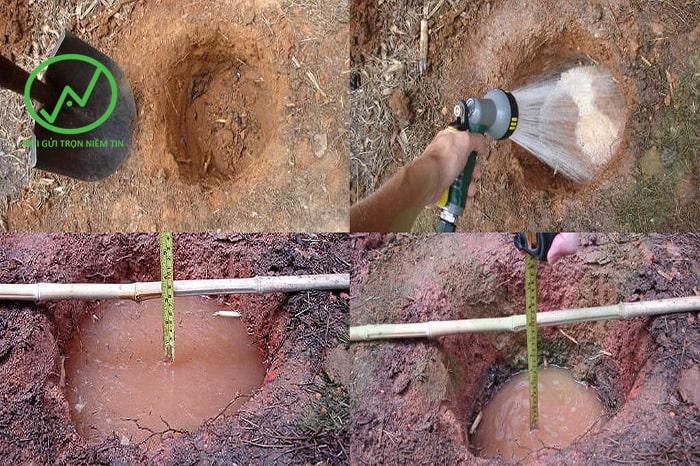 cách kiểm tra khả năng thoát nước của đất