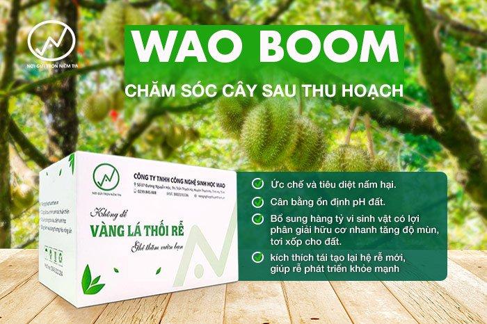WAO BOOM: Bộ giải pháp chăm sóc cây sau thu hoạch